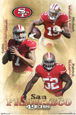 "San Francisco 49ers ""Triple Action"" (Kaepernick, Crabtree, Willis) - Costacos 2013"