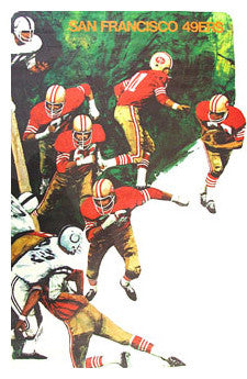 San Francisco 49ers NFL Collectors Series Vintage Original Theme Art Poster (1968)
