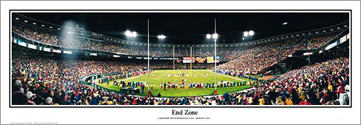 "San Francisco 49ers ""End Zone"" Candlestick Park 1990s Panoramic Poster Print - Everlasting Images"