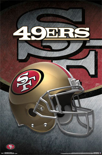 San Francisco 49ers Official NFL Football Team Theme Helmet Logo Poster - Trends International