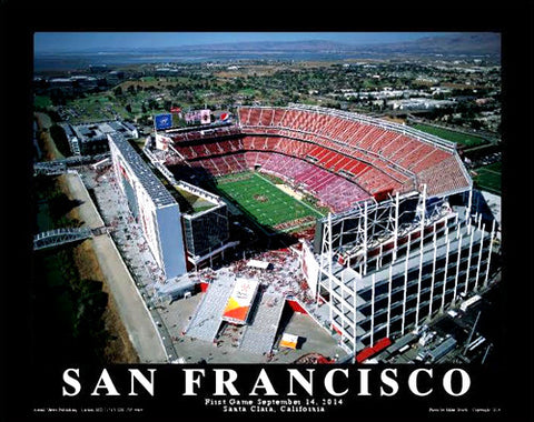 Levi's Stadium San Francisco 49ers Inaugural Gameday Poster Print - Aerial Views 2014