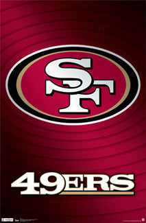 San Francisco 49ers Official NFL Team Logo Poster - Costacos Sports