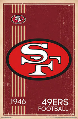San Francisco 49ers NFL Heritage Series Official Retro Logo Poster - Costacos Sports