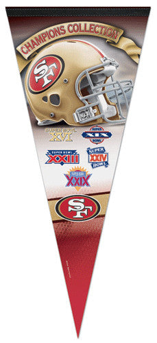 San Francisco 49ers 5-Time Super Bowl Champions EXTRA-LARGE Premium Pennant - Wincraft Inc.