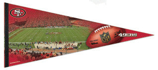 SF 49ers Candlestick Park Extra-Large Premium Felt Pennant - Wincraft