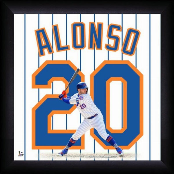 "Pete Alonso ""Number 20"" New York Mets FRAMED 20x20 UNIFRAME PRINT - Photofile"