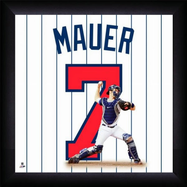 "Joe Mauer ""Number 7"" Minnesota Twins FRAMED 20x20 UNIFRAME PRINT - Photofile"