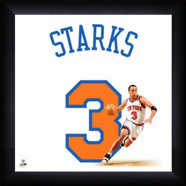 "John Starks ""Number 3"" New York Knicks NBA FRAMED 20x20 UNIFRAME PRINT - Photofile"