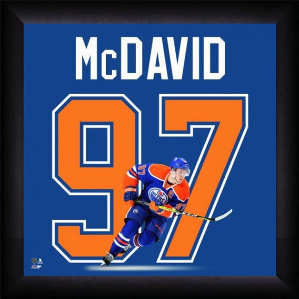 "Connor McDavid ""Number 97"" Edmonton Oilers Hockey FRAMED 20x20 UNIFRAME PRINT - Photofile"