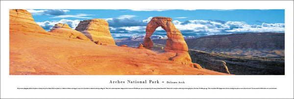 Arches National Park, Delicate Arch (Utah) Panoramic Poster Print - Blakeway Worldwide