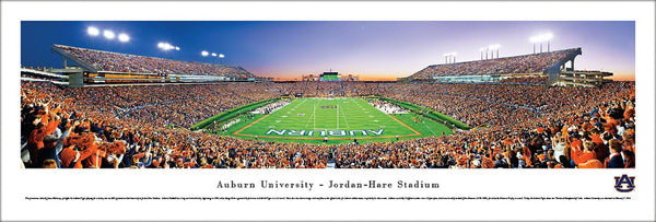 "Auburn Tigers Jordan-Hare Stadium ""End Zone"" Panoramic Poster Print - Blakeway 2011"
