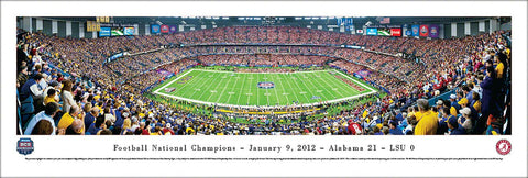 Alabama Crimson Tide 2011 Football National Champions BCS Game Night Panoramic Poster Print - Blakeway