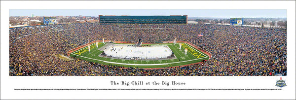 "Michigan Stadium ""Big Chill Hockey at the Big House"" Panoramic Poster Print - Blakeway"
