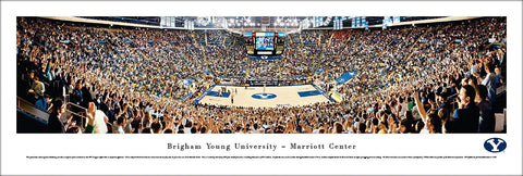 "Brigham Young BYU Cougars Basketball ""Good Night Zags"" Panoramic Poster Print - Blakeway"