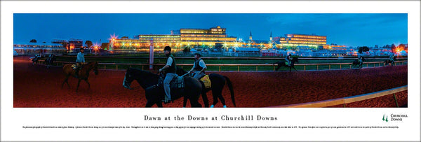 "Churchill Downs ""Dawn at the Downs"" Kentucky Derby Panoramic Poster - Blakeway Worldwide"