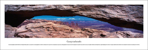 Canyonlands National Park (Southern Utah) Panoramic Poster Print - Blakeway Worldwide