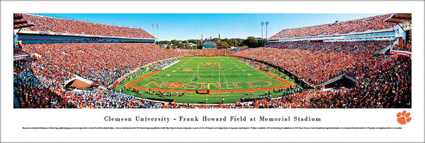 "Clemson Tigers Football Memorial Stadium ""Historic Game Day"" Panoramic Poster Print - Blakeway 2011"