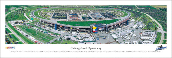 Chicagoland Speedway NASCAR Race Day Aerial Panoramic Poster Print - Blakeway Worldwide