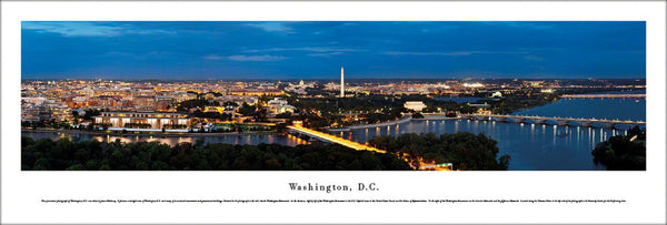 Washington, DC Twilight Over the Beltway Panoramic Poster Print - Blakeway Worldwide
