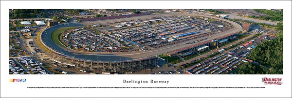 Darlington Raceway NASCAR Race Day Aerial Panoramic Poster Print - Blakeway Worldwide
