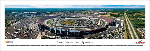 Dover International Speedway NASCAR Track Aerial Panoramic Poster - Blakeway Worldwide