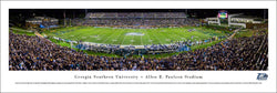 Georgia Southern Eagles Football Paulson Stadium Game Night Panoramic Poster Print (2014)