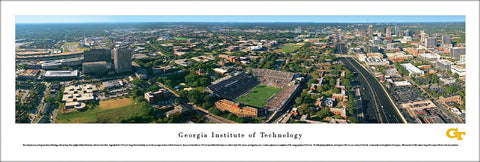 Georgia Tech University Football Gameday Aerial Panoramic Poster Print - Blakeway Worldwide