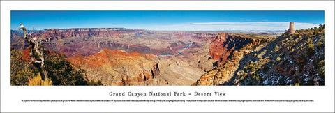 "The Grand Canyon ""Desert View"" Panoramic Landscape Poster Print - Blakeway Worldwide"