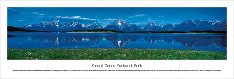 Grand Teton National Park, Wyoming Panoramic Landscape Poster - Blakeway Worldwide