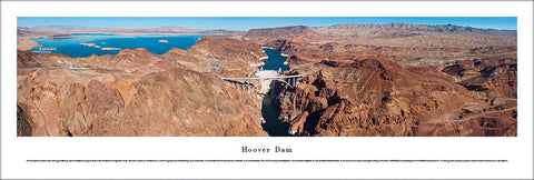 "The Hoover Dam ""Upstream View"" Panoramic Landscape Poster Print - Blakeway Worldwide"