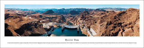 "The Hoover Dam ""Downstream View"" Panoramic Landscape Poster Print - Blakeway Worldwide"