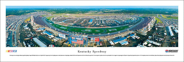 Kentucky Speedway NASCAR Race Day Aerial Panoramic Poster Print - Blakeway Worldwide