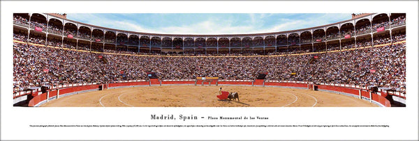 Bull Fighting Arena Plaza Monumental (Madrid, Spain) Panoramic Poster Print - Blakeway Worldwide