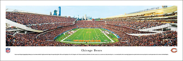 "Chicago Bears ""End Zone"" Soldier Field Gameday Panoramic Poster Print - Blakeway"