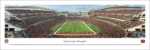Cincinnati Bengals Paul Brown Stadium End Zone View Panoramic Poster Print - Blakeway Worldwide