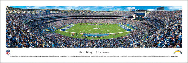 San Diego Chargers Qualcomm Stadium Gameday Panoramic Poster - Blakeway Worldwide
