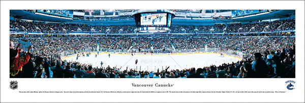 Vancouver Canucks Rogers Arena NHL Game Night Panoramic Poster - Blakeway Worldwide