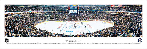 Winnipeg Jets MTS Centre Opening Night Panoramic Poster Print (10/9/2011) - Blakeway Worldwide