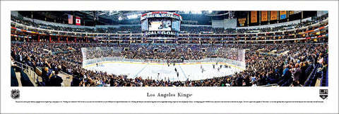 Los Angeles Kings Staples Center NHL Game Night Panoramic Poster Print - Blakeway Worldwide