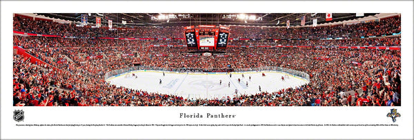 Florida Panthers Playoff Game Night Panoramic Poster Print - Blakeway Worldwide