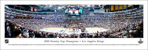 Los Angeles Kings 2012 Stanley Cup Champions Staples Center Celebration Panoramic Poster Print - Blakeway Worldwide
