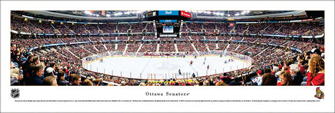 Ottawa Senators NHL Hockey Game Night Panoramic Poster Print - Blakeway Worldwide