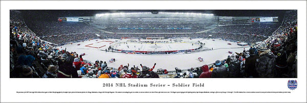 Chicago Blackhawks 2014 Stadium Series at Soldier Field Panoramic Poster Print - Blakeway
