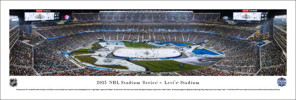 NHL Stadium Series 2015 Sharks vs. Kings at Levi's Stadium Panoramic Poster Print - Blakeway
