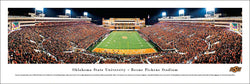 "Oklahoma State Cowboys Football ""Bedlam Game Night"" Panoramic Poster - Blakeway Worldwide"