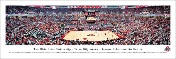 Ohio State Buckeyes Basketball Game Night Panoramic Poster Print - Blakeway Worldwide