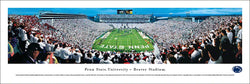 "Penn State Nittany Lions Football ""White Out"" (End Zone) Panoramic Poster Print - Blakeway"