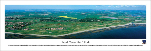 Royal Troon Golf Club Aerial Panoramic Poster Print - Blakeway Worldwide
