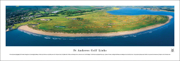 "St Andrews Golf Links ""Seaward"" Panoramic Poster Print - Blakeway Worldwide"
