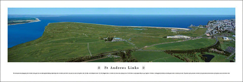 St Andrews Golf Links Aerial Panoramic Poster Print - Blakeway Worldwide